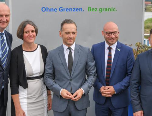 Heiko Maas i Dietmar Woidke złożyli wizytę we Frankfurcie nad Odrą i Słubicach
